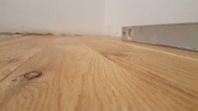 Richmond New wooden Floor fitting during Living Room refurbishment