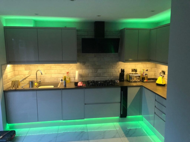 Hampton Kitchen refurbishment and LED light fitting