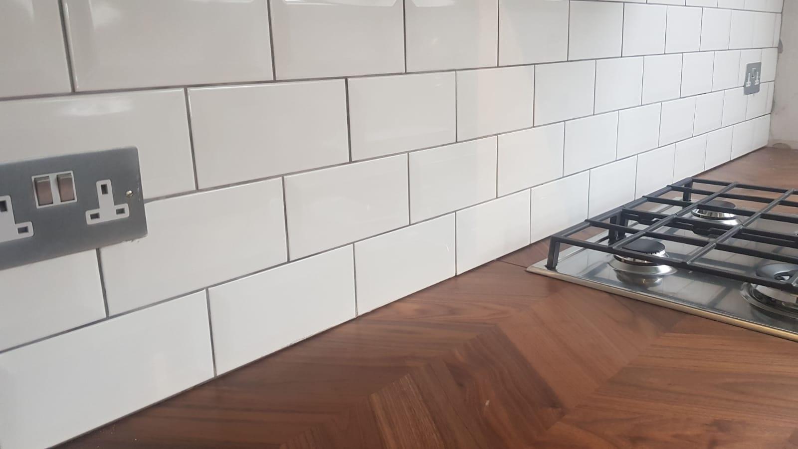 Sunbury on Thames kitchen refurbishment new tiling and worktop