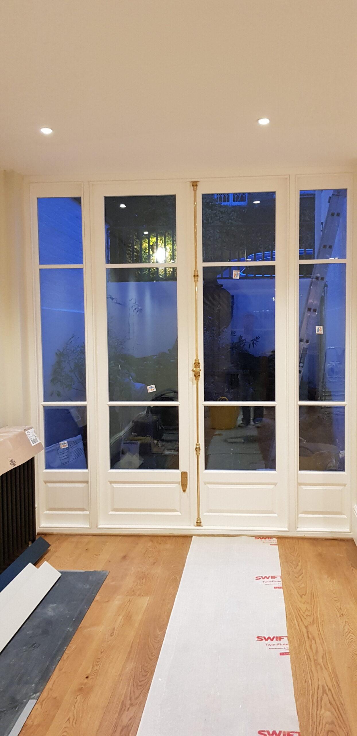 Fitting new kitchen external door
