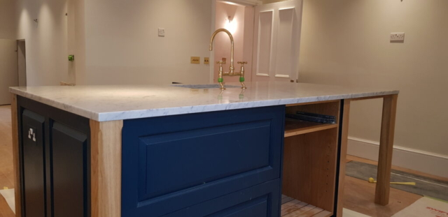 Richmond - refurbished kitchen island with tap