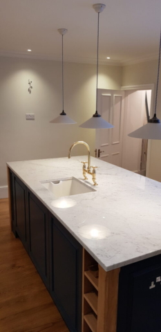 Richmond handyman fitted light in the refurbished kitchen