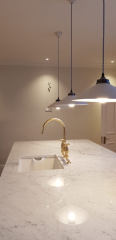 Hampton - kitchen island after design and build
