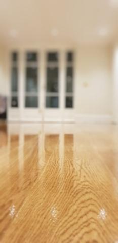 Hampton fitting new wooden floor