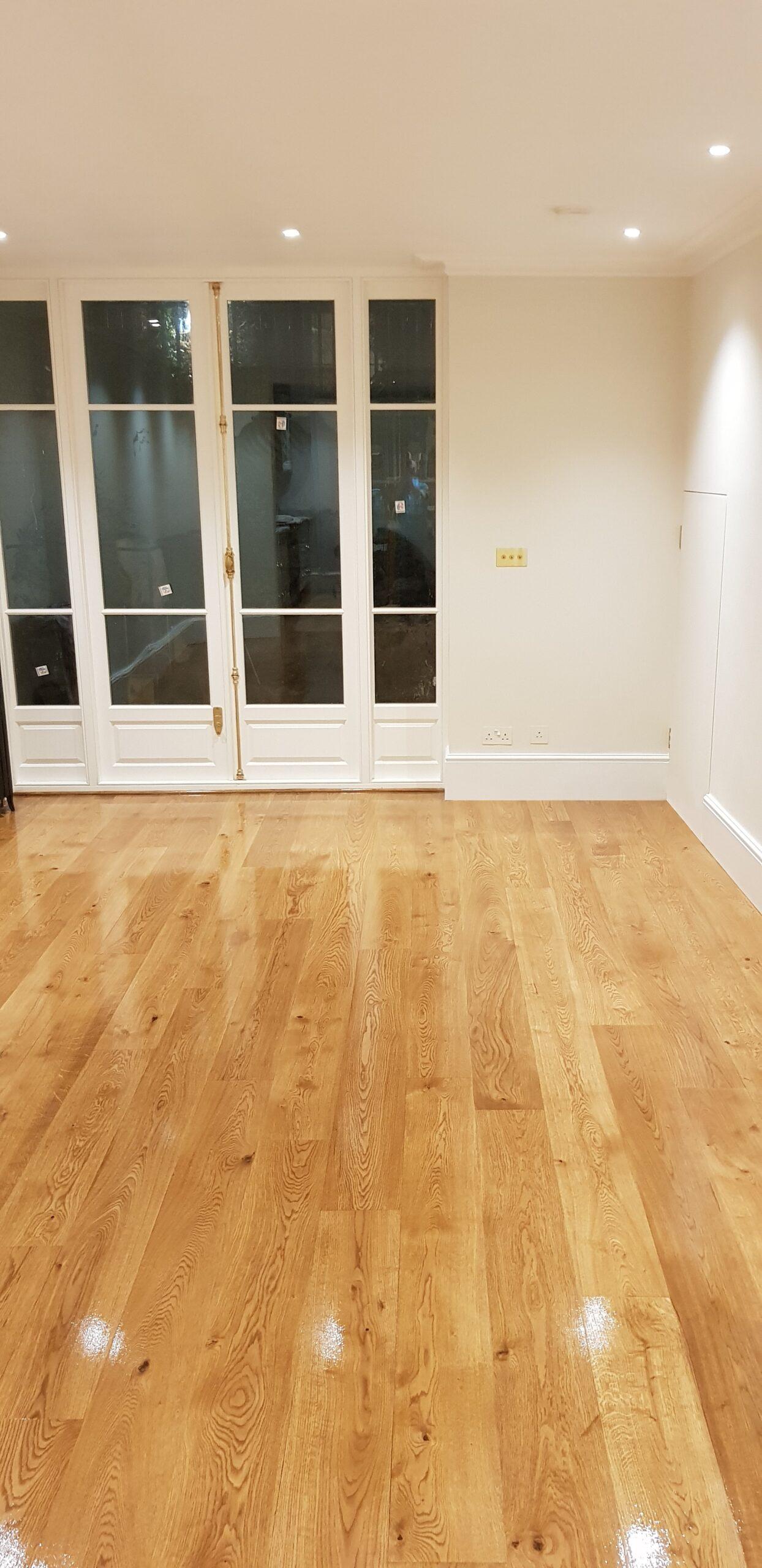 Sunbury on Thames - beautiful wooden floor fitting and polishing